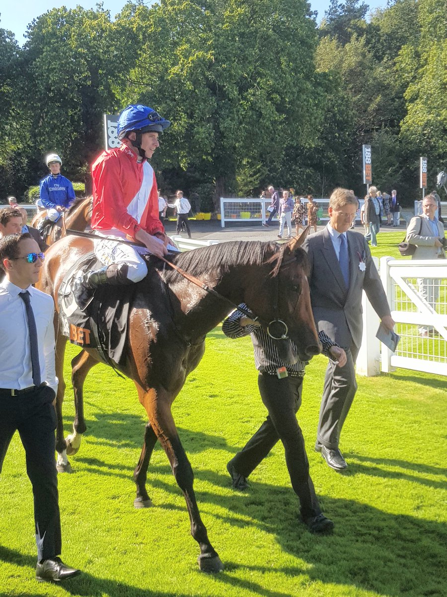 veracious and ryan moore after winning at sandown