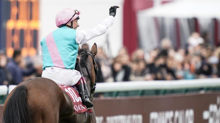 dettori celebrates enable win in paris