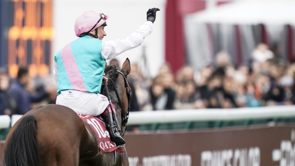 dettori celebrates enable win in paris