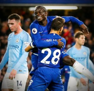 chelsea take lead against manchester city