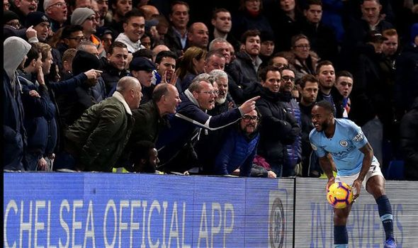 chelsea fans hurl racist abuse
