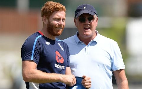 steve bruce jokes with Jonny Bairstow