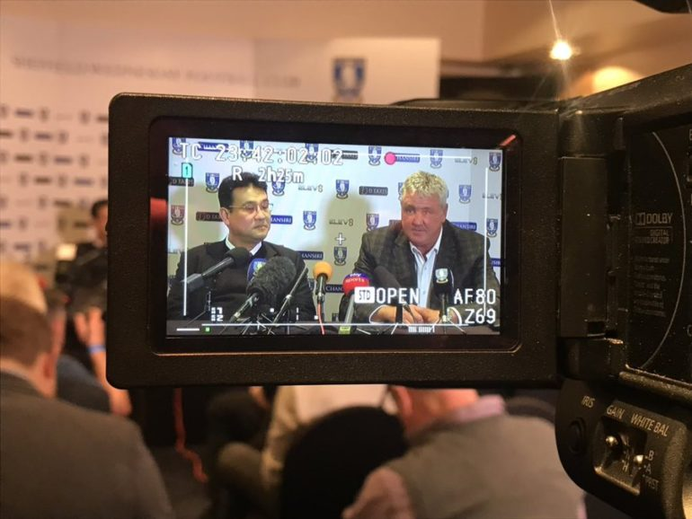 steve bruce meets the press