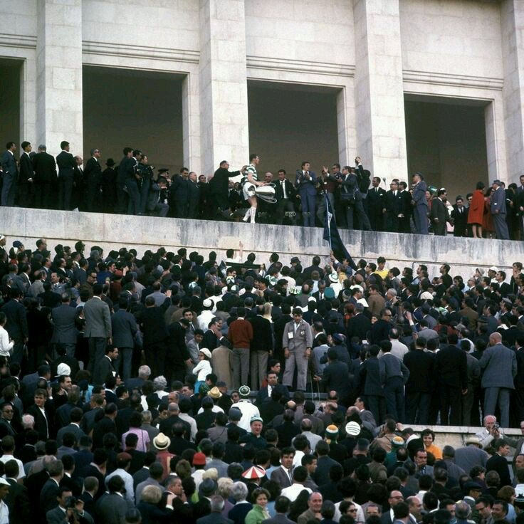billy mcneill in lisbon with the cup