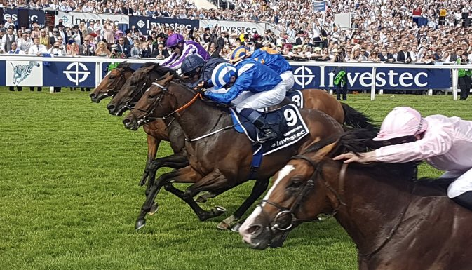 finish to the 2019 derby