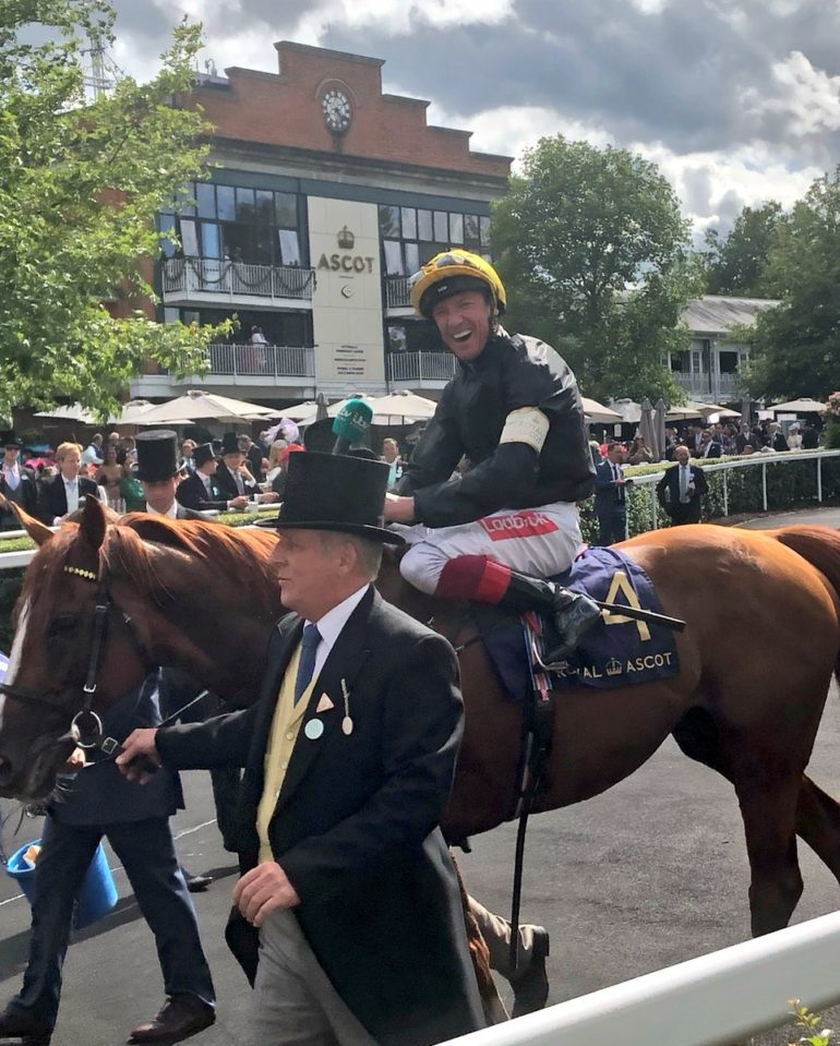 frankie dettori smile after ascot gold cup victory
