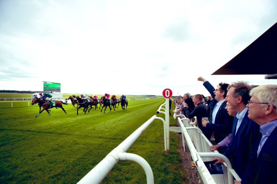 punters cheering at the curragh