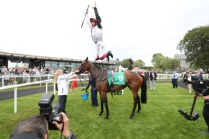 frankie dettori jumps from star catcher at the curragh