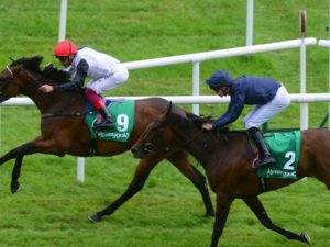 Star Catcher wins Irish Oaks. A 5/1 tip to VG Tips subscribers