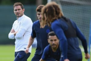 lampard with players at training
