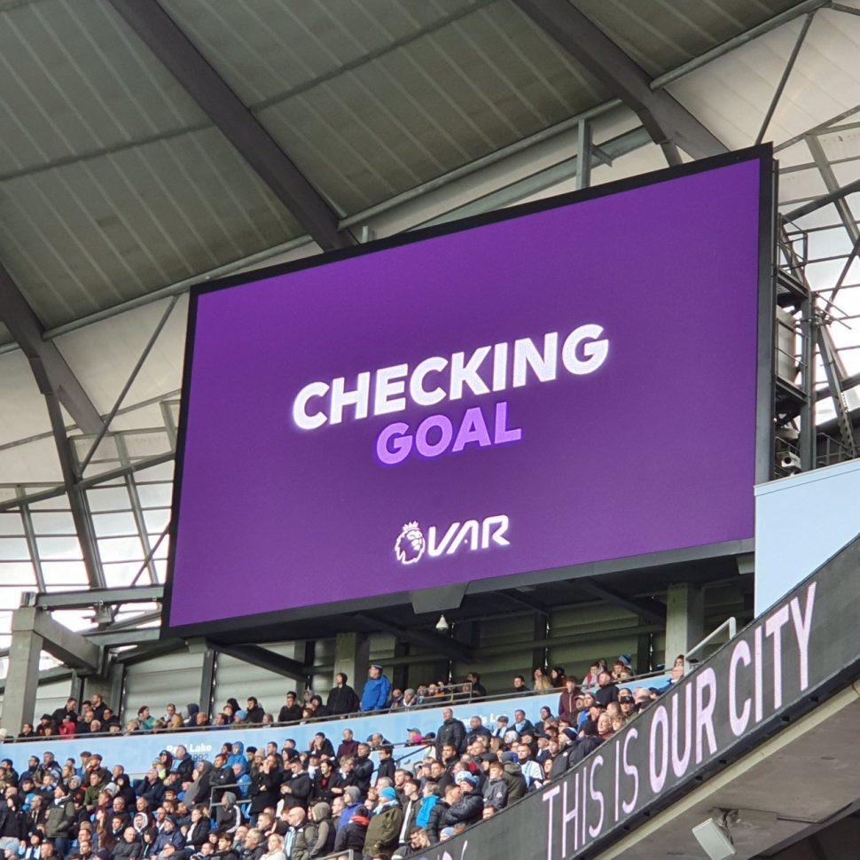 VAR SCREEN AT MAN CITY