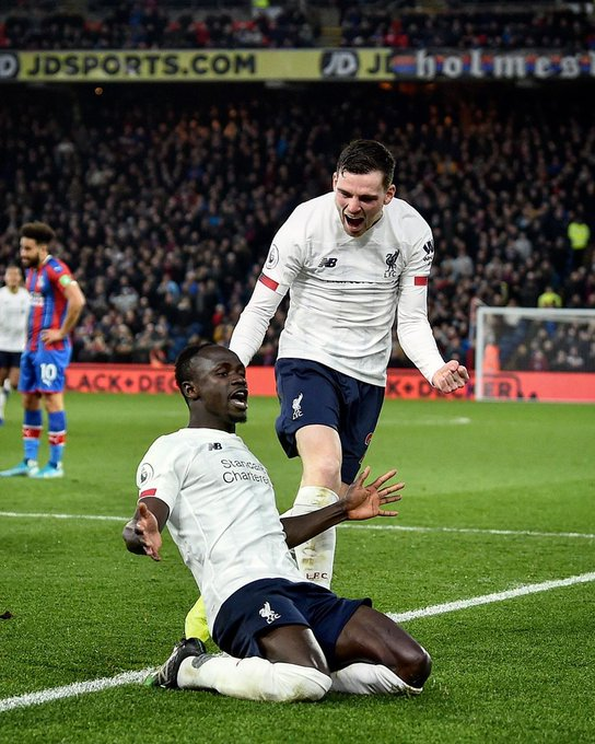 sadio mane scores at palace