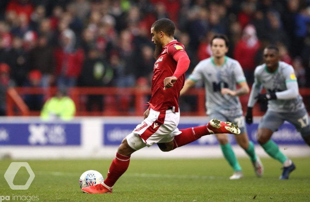 Lewis Grabban scores for Forest