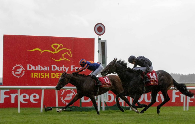 santiago wins irish derby