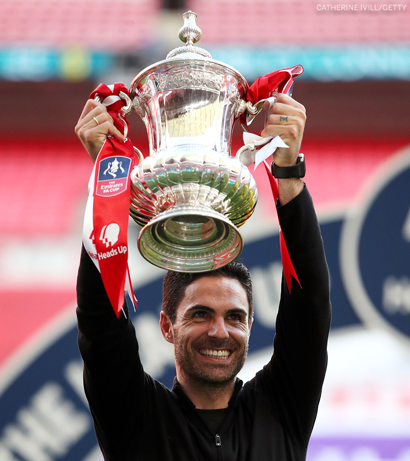 Mikel Arteta with FA CUp