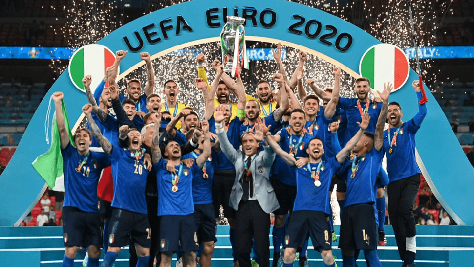 Italy lift the Euros trophy