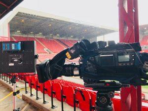 TV Camera at football ground by chris johnson